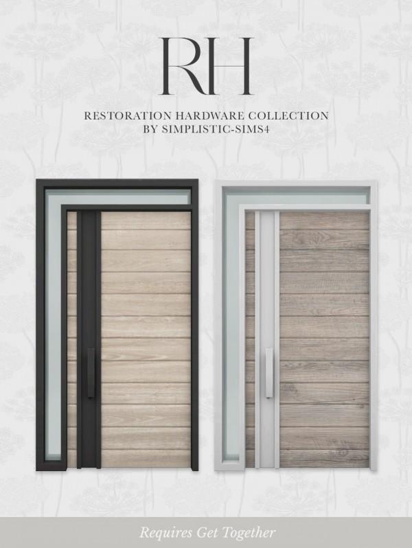 Simplistic: Restoration Hardware Front Door