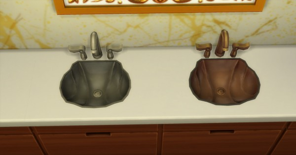 Mod The Sims: Sink and Mirror by AdonisPluto