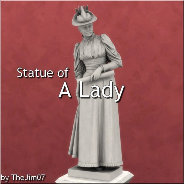Mod The Sims: Statue of A Lady by Bissen by TheJim07