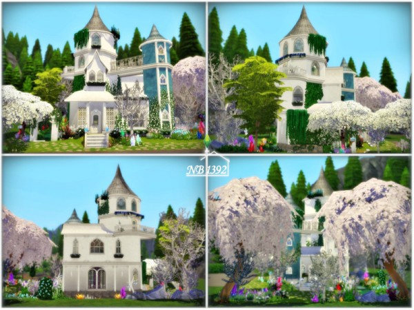 The Sims Resource: Blue Fairy Castle (No CC!) by nobody1392