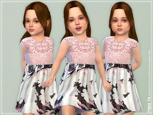 The Sims Resource: Mary Lou Dress for Toddler by lillka