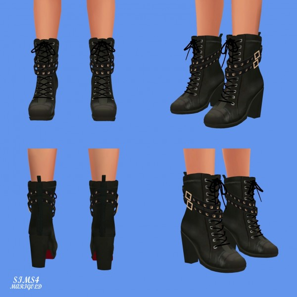 SIMS4 Marigold: Stud Leather Boots
