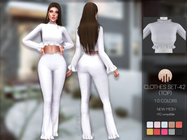 The Sims Resource: Clothes SET 42 Top by busra tr