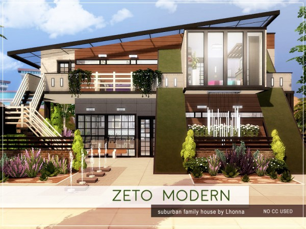 The Sims Resource: Zeto Modern House by Lhonna