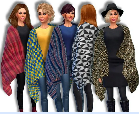 All4Sims: Blanket Cape by Oldbox