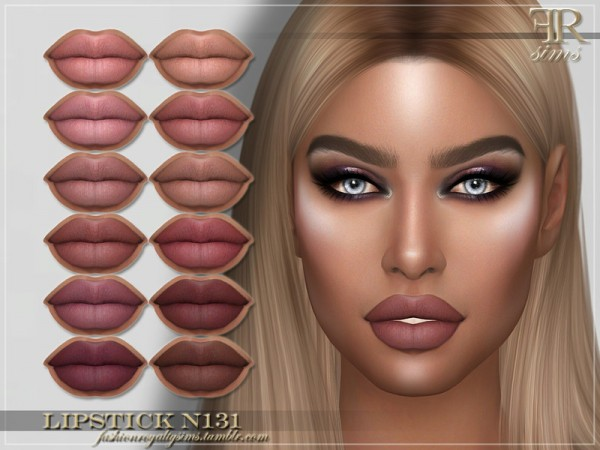 The Sims Resource: Lipstick N131 by FashionRoyaltySims