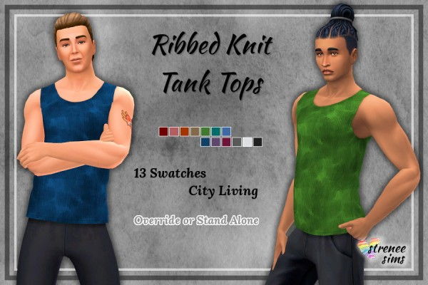 Strenee sims: Ribbed Knit Tank Top