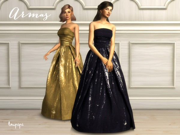 The Sims Resource: Armas Dress by Laupipi