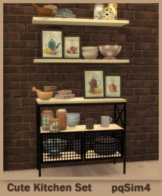 PQSims4: Cute Kitchen Set