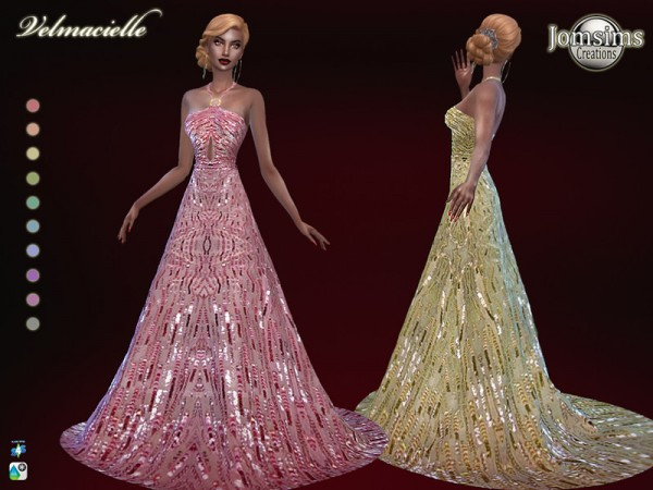 The Sims Resource: Velmacielle dress by jomsims