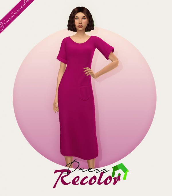 Simiracle: T Shirt Dress   Recolor
