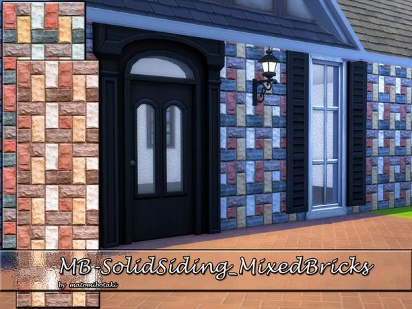 The Sims Resource: Solid Siding Mixed Bricks by matomibotaki