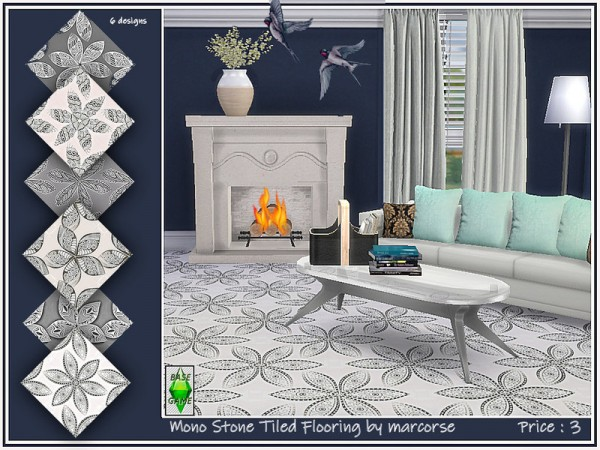 The Sims Resource: Mono Stone Tiled Flooring by marcorse