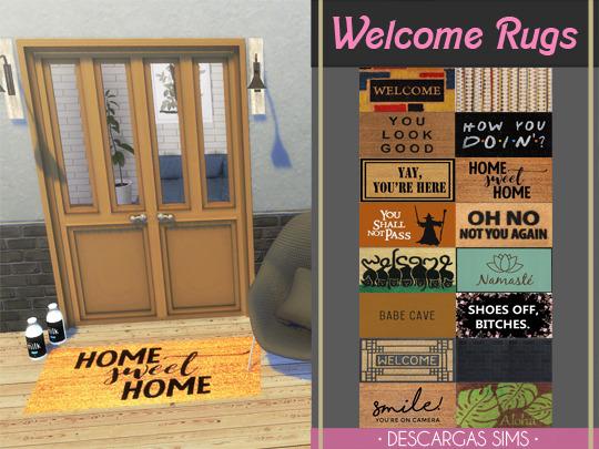 Descargas Sims: Welcome Rugs