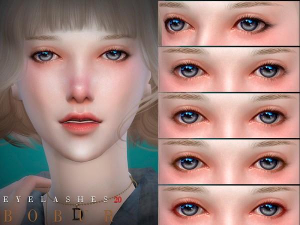 The Sims Resource: Eyelashes 20 by Bobur