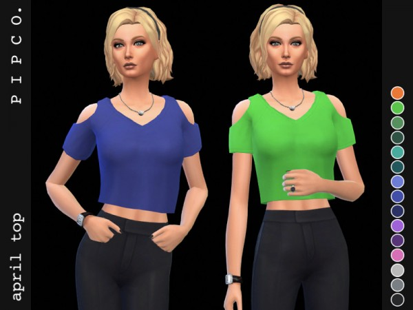 The Sims Resource: April top by Pipco