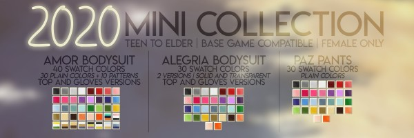 Candy Sims 4: 2020 mini collection