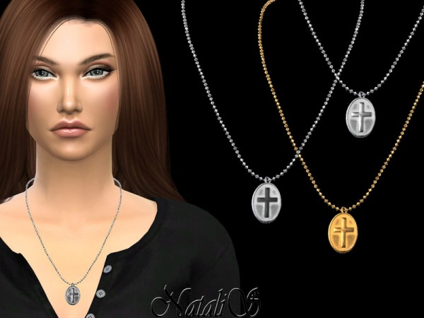 The Sims Resource: Cross medallion necklace by NataliS