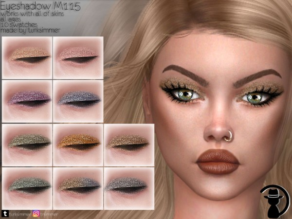 The Sims Resource: Eyeshadow M115 by turksimmer
