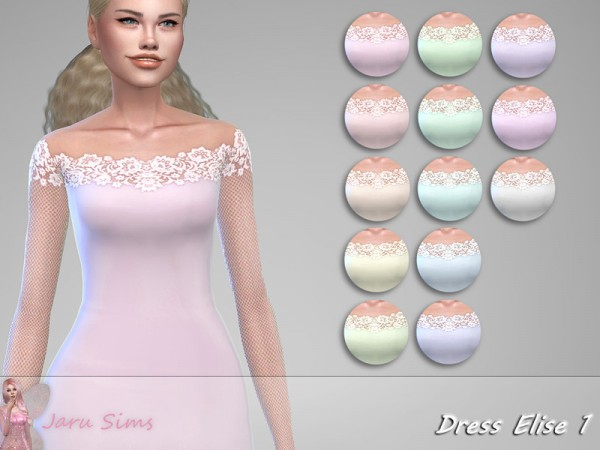 The Sims Resource: Dress Elise 1 by Jaru Sims
