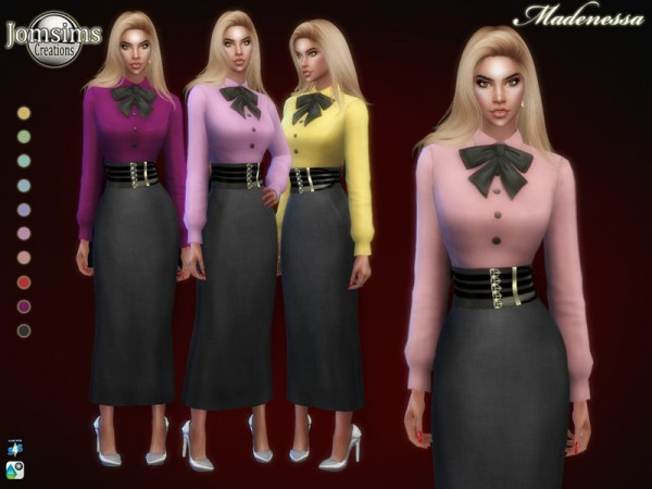 The Sims Resource: Madenessa dress by jomsims