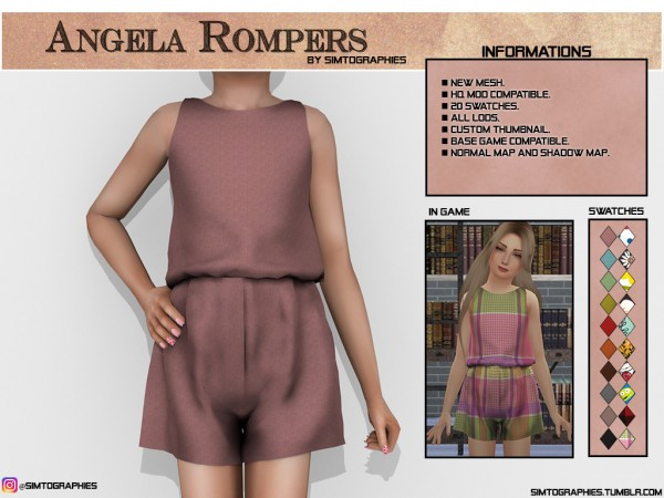 Simtographies: Angela rompers