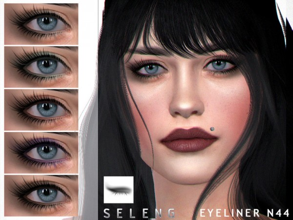 The Sims Resource: Eyeliner N44 by Seleng