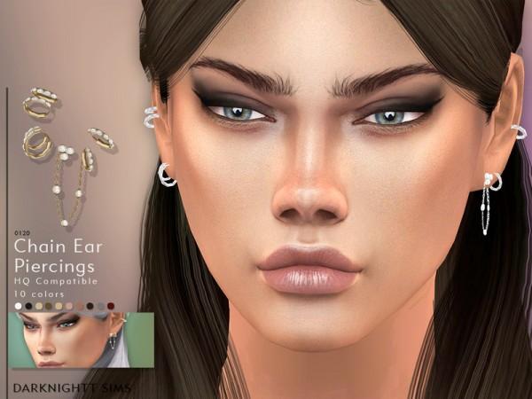 The Sims Resource: Chain Ear Piercings by DarkNighTt