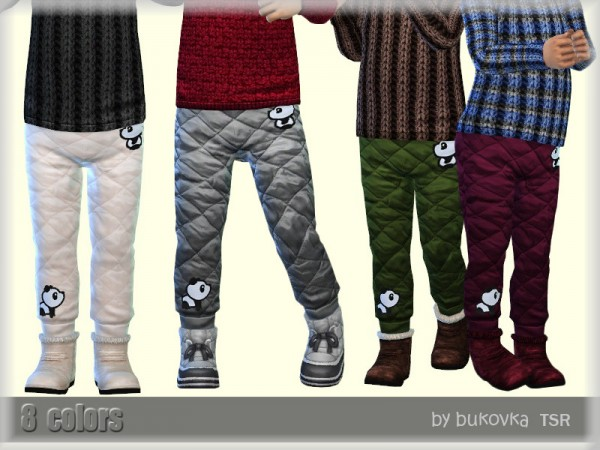 The Sims Resource: Quilted Pants by bukovka