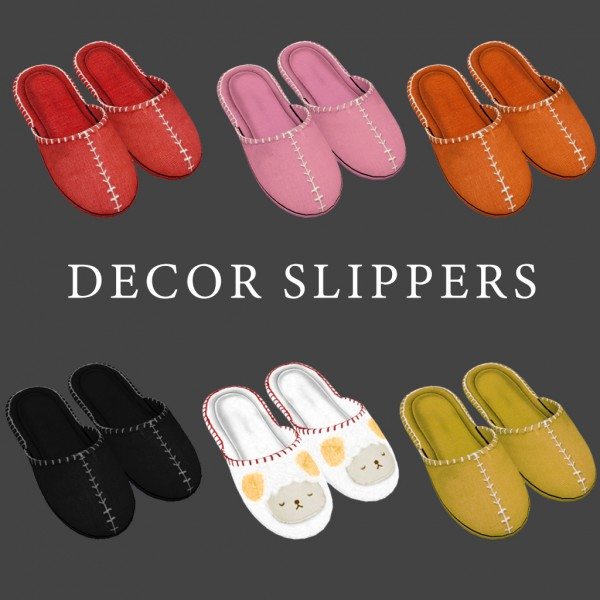 Leo 4 Sims: Decor Slippers