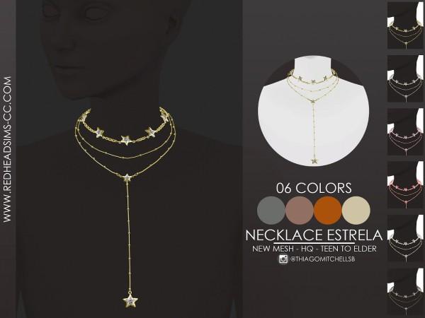 Red Head Sims: Necklace Estrela