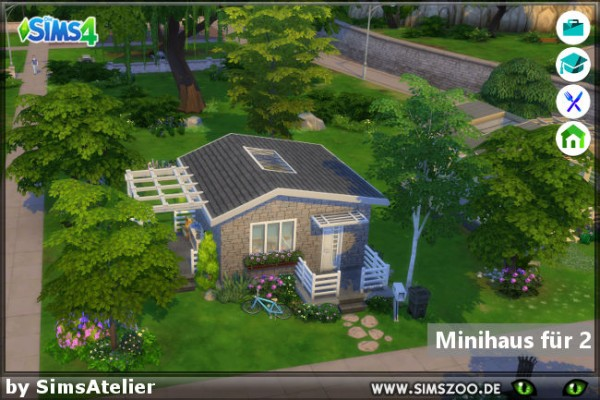Blackys Sims 4 Zoo: Mini house for 2 by SimsAtelier