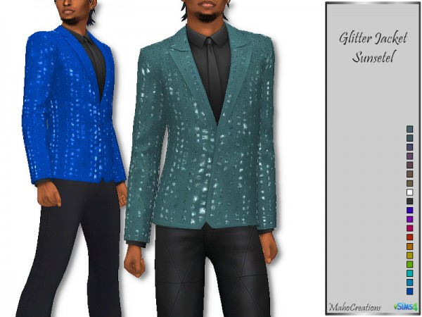 The Sims Resource: Glitter Jacket Sunsetel by MahoCreations