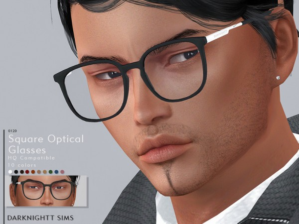 The Sims Resource: Square Optical Glasses by DarkNighTt