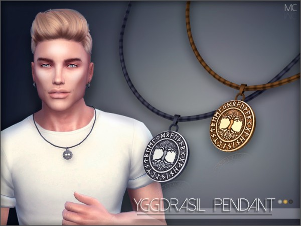 The Sims Resource: Yggdrasil Pendant by Mathcope