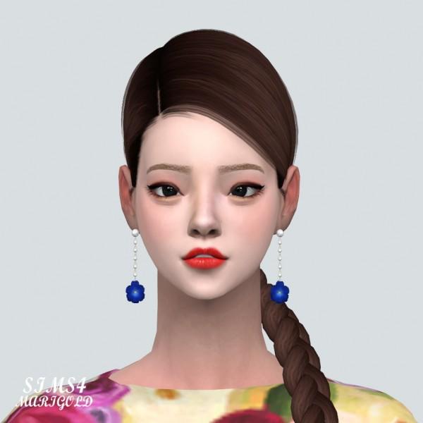 SIMS4 Marigold: Elegance 1 Flower Pearl Earring V2