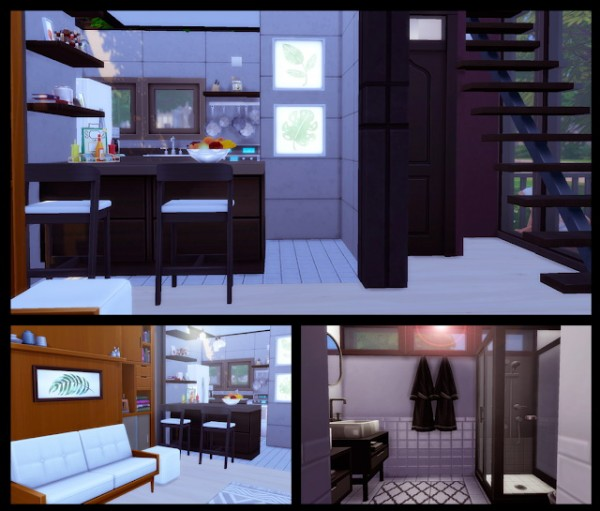 Liily Sims Desing: Tiny Modern House (No CC)