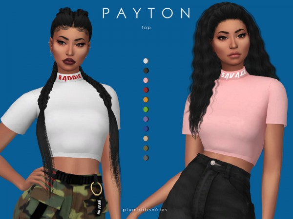 The Sims Resource: Payton top by Plumbobs n Fries