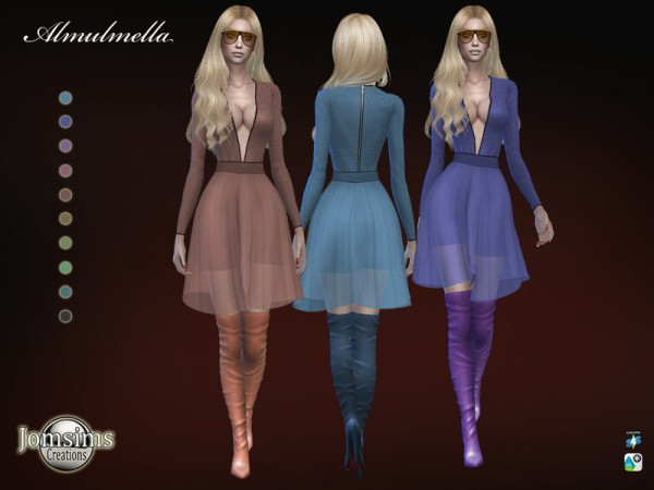 The Sims Resource: Almulmella dress by jomsims