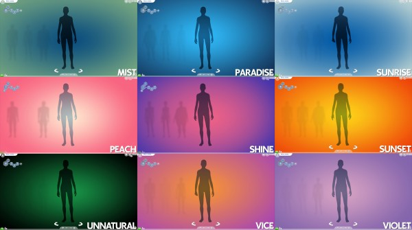 Mod The Sims: Gradient CAS Screen by Ahinana • Sims 4 ...