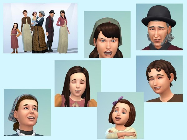 KyriaTs Sims 4 World: Midwife Oline and her family