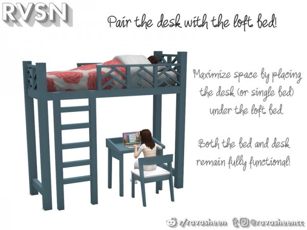 The Sims Resource: Thats What She Bed   Bunk Bed Series by RAVASHEEN
