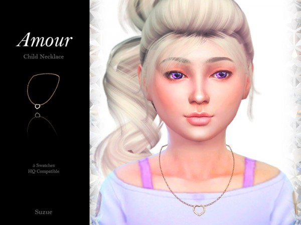 The Sims Resource: Amour Child Necklace by Suzue