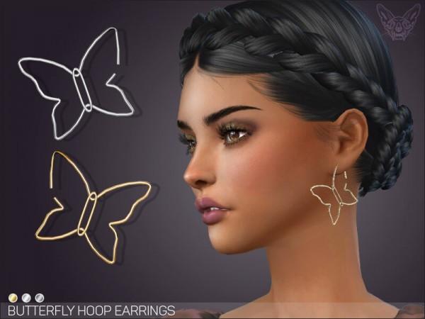 Giulietta Sims: Butterfly Hoop Earrings