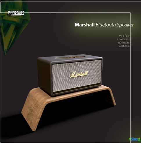 Paco Sims: Bluetooth Speaker ( Functional )