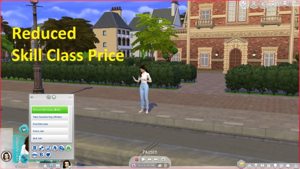 Mod The Sims: Reduced Skill Class Cost by Anonymouse85
