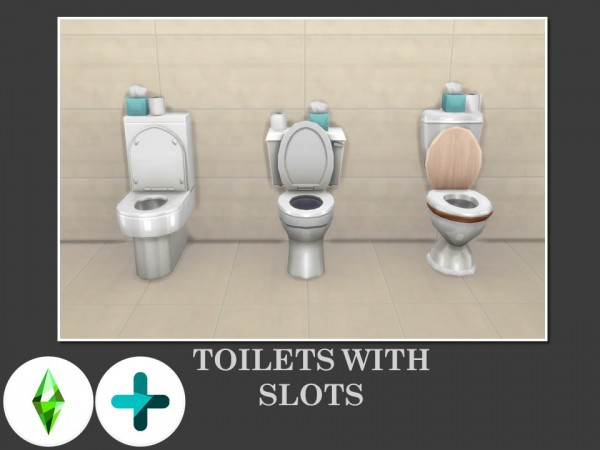Mod The Sims: Toilets With Slots by Teknikah
