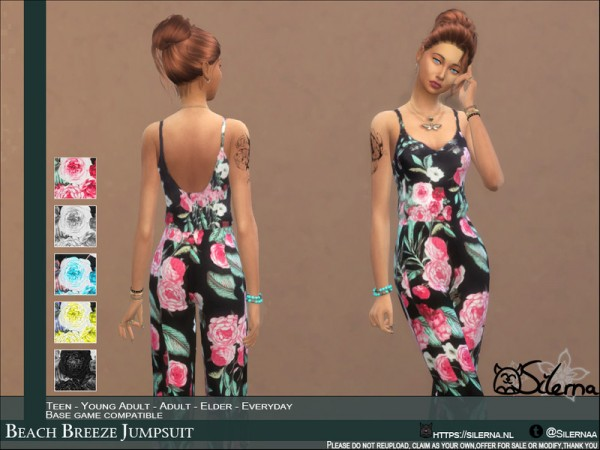 The Sims Resource: Beach Breeze Jumpsuit by Silerna