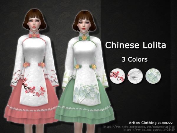 The Sims Resource: Chinese Lolita Dress by Arltos