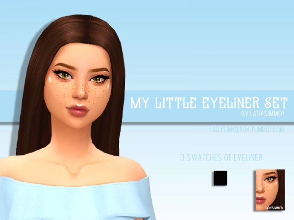 The Sims Resource: My Little Eyeliner Set by LadySimmer94